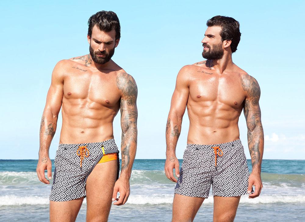 Juan Batancourt con bañador Meander