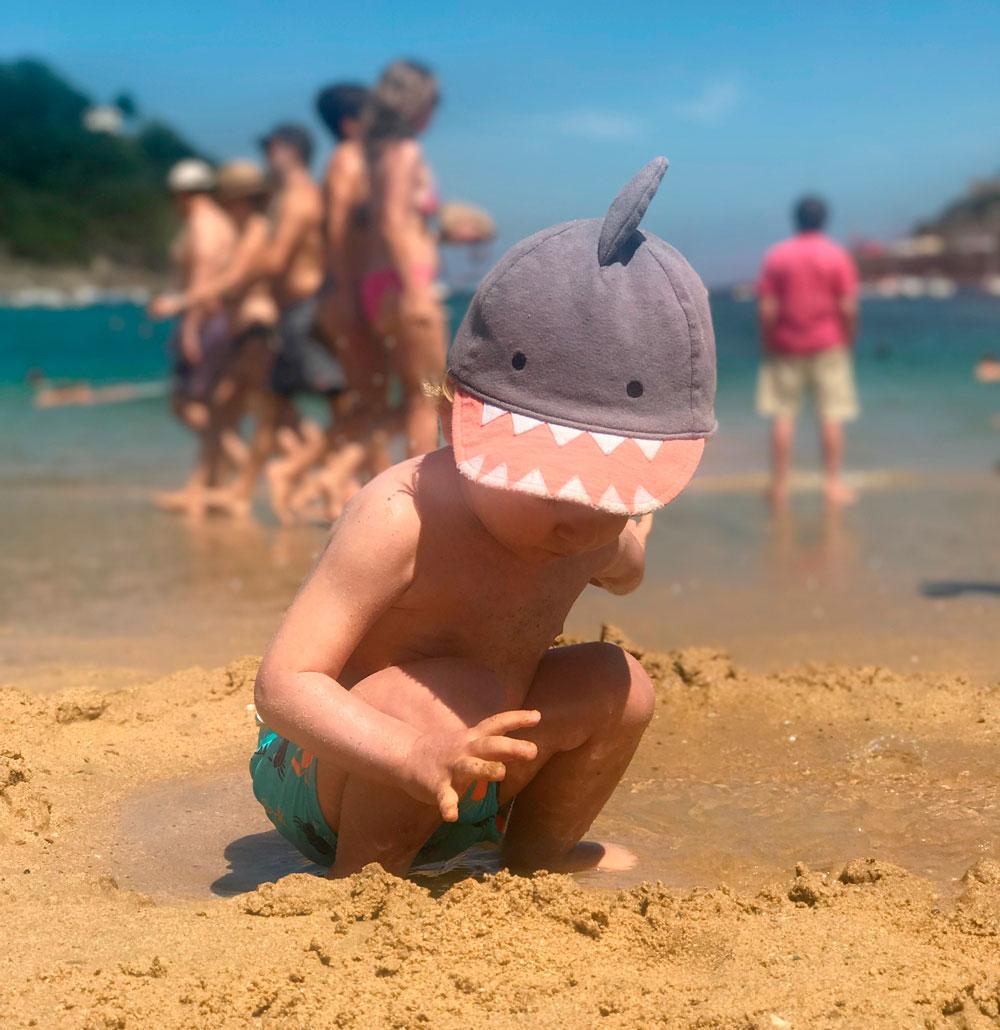 Alex en la playa