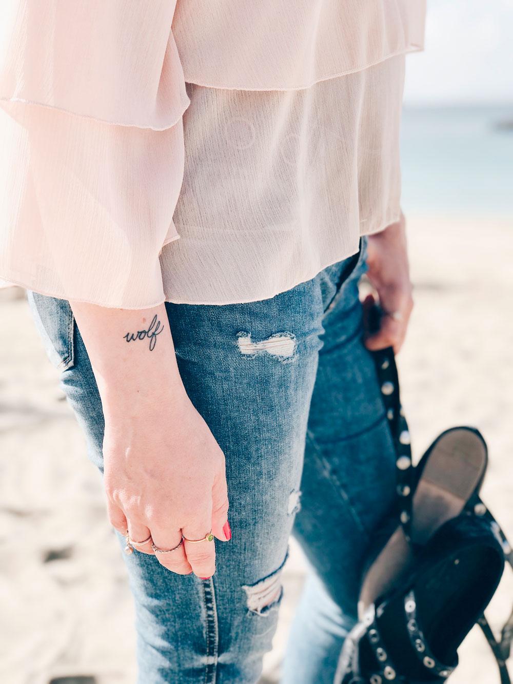 tatuaje Wolf de Arantza