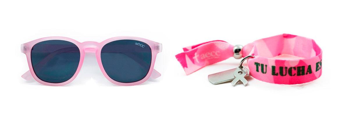 gafas y pulsera de la AECC