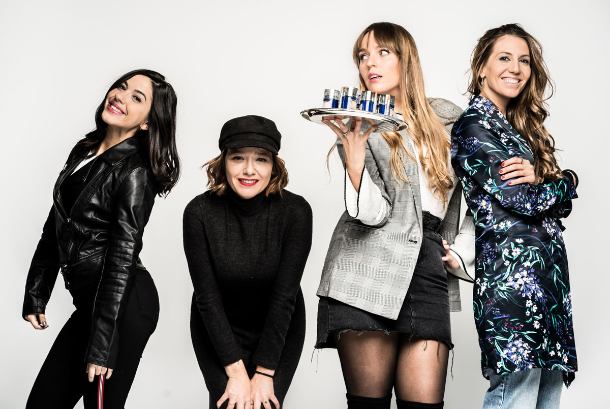 Gema, Arantza, Lucía y Olga