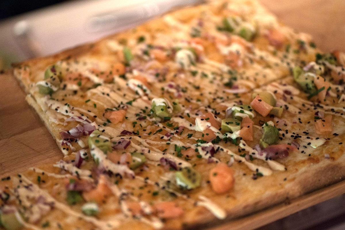 Detalle de la pizza Rolling