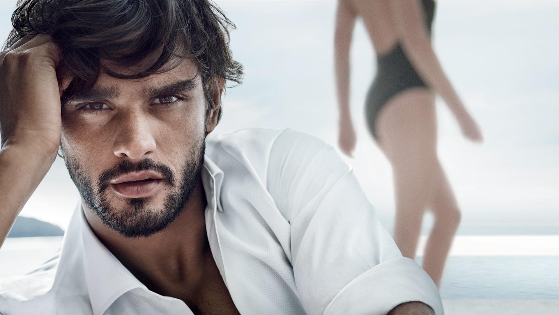 El modelo brasileño Marlon Teixeira