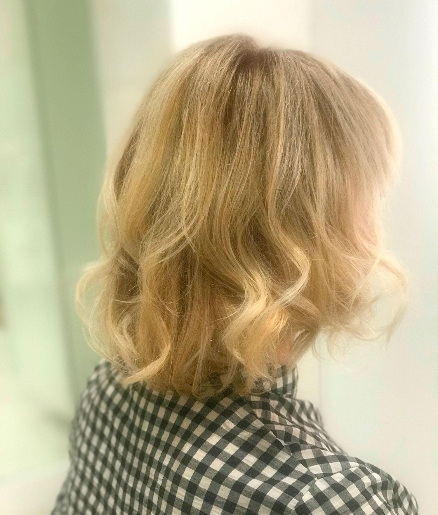 detalle del peinado de Arantza en Coolday