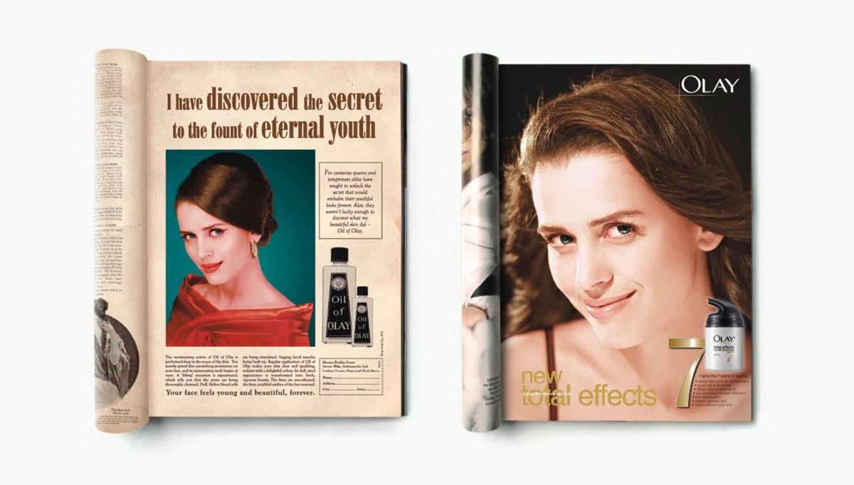 publicidad de Olay en revistas