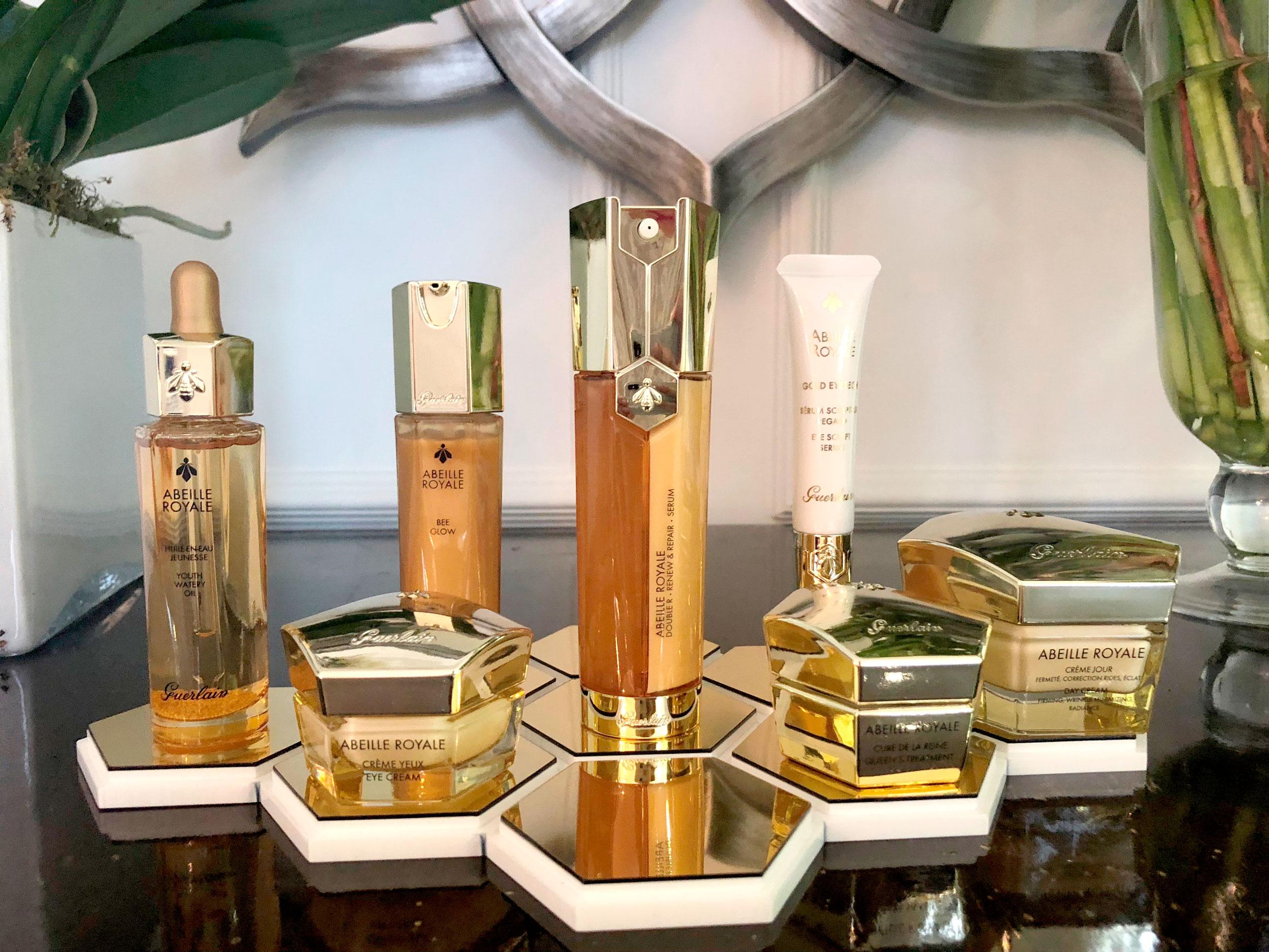 Línea de productos Abeille Royale de Guerlain en la presentación de Madrid