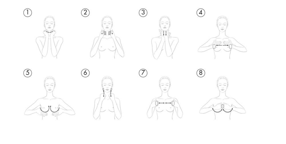 Cómo hacer el masjae en cuello y escote