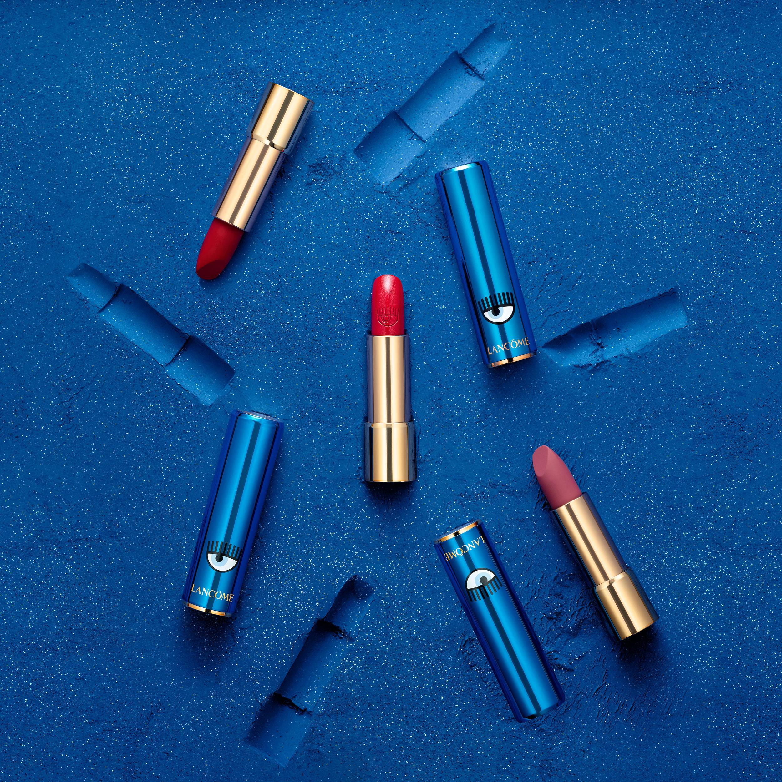 los 3 labiales de la colección de Chiara Ferragni para Lancôme-chiara