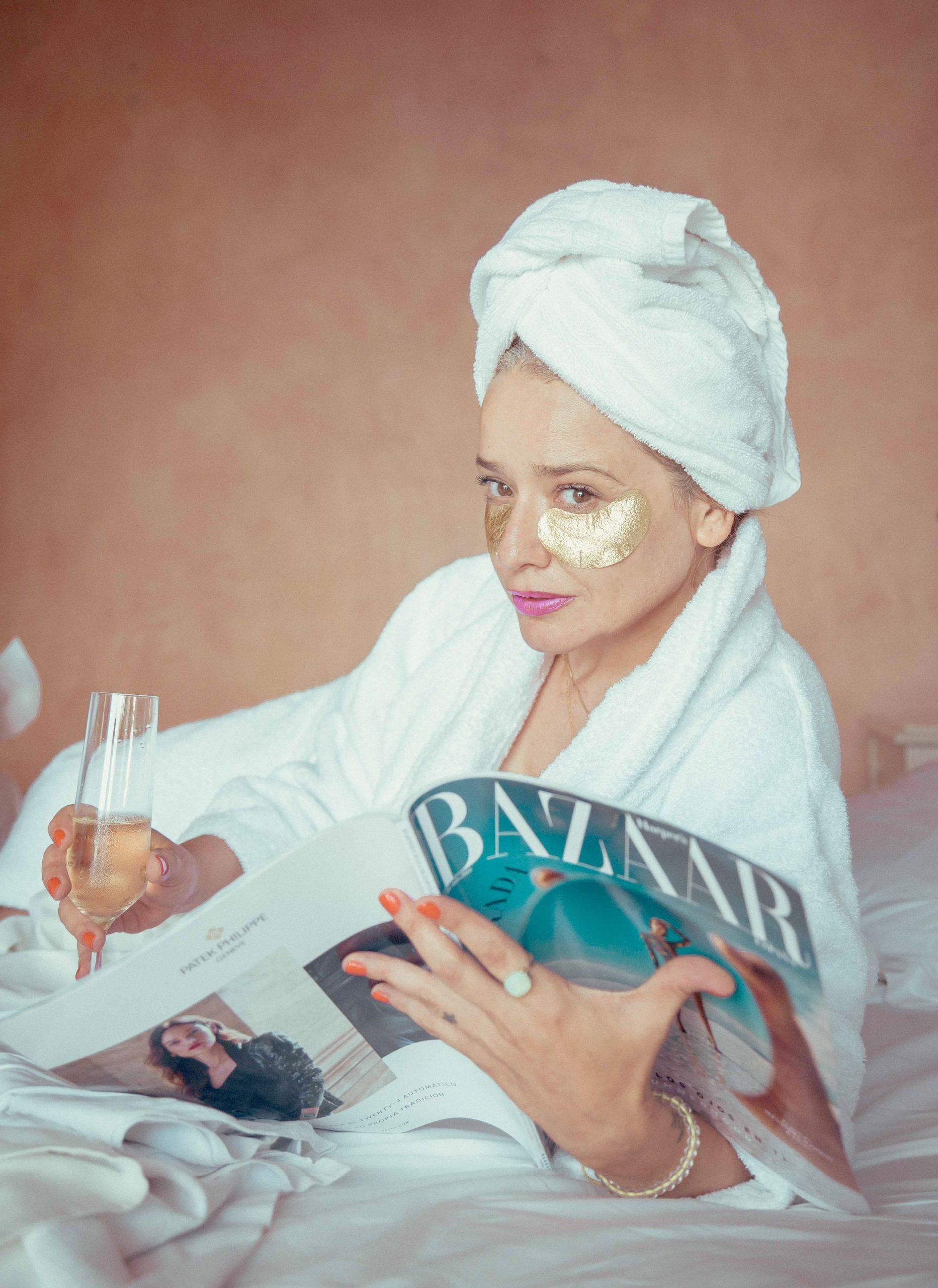 Arantza los productos de Iroha Nature durante un CosmetikTrip